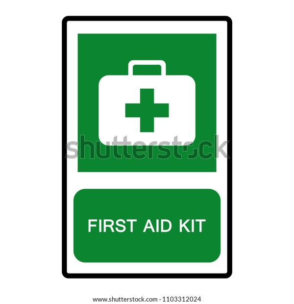 First Aid Kit Symbol, Vector Illustration, Isolate On White Background Icon. EPS10