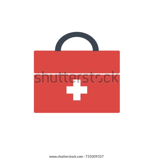 First Aid Kit Vector Stock Vector (Royalty Free) 735009337