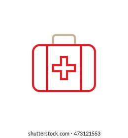 First aid line icon, outline vector logo illustration, linear pictogram isolated on white