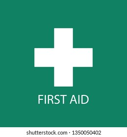 First aid. Medical cross vector icon. Medicinal and pharmacy sign