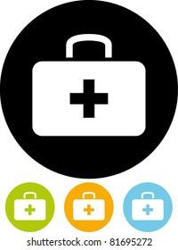 First aid medicine kit – Vector