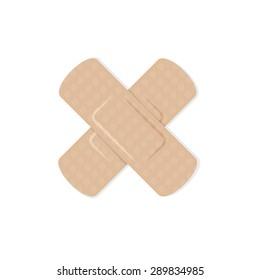 First aid plaster flat design, Vector sign symbol