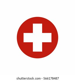 First aid sign icon vector design isolated on white background