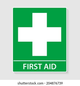 First Aid sign vector illustration