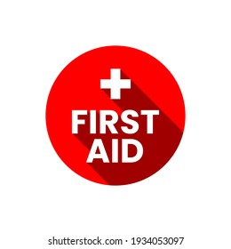 First aid symbol sign medical help emergency vector