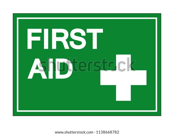 First Aid Symbol Sign Vector Illustration Stock Vector (Royalty Free