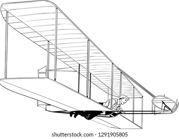 First airplane which had tested first flight. It could flied only 30 meters.