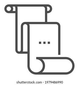 First Amendment square line vector icon.