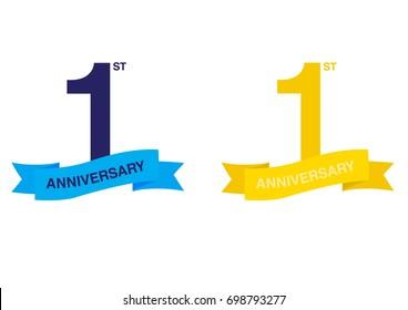 First Anniversary Logo