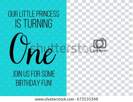 First birthday invitation girl one year stock vector royalty free first birthday invitation girl one year old tiffany blue color with dots printable invite with filmwisefo