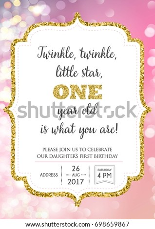 Imageshutterstock Image Vector First Birthday