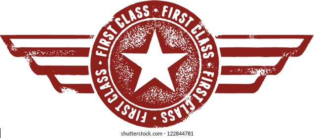 First Class Aviation Wings Stamp