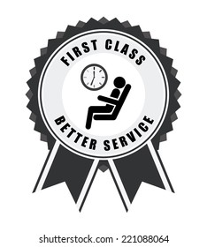 First Class Graphic Design Vector Illustration Stock Vector Royalty Free 221088064