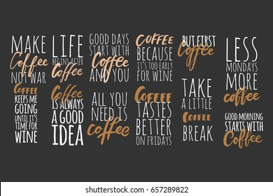 But first coffee.Coffee keeps me going until it's time for wine.Coffee is always a good idea. Lettering and custom typography for your designs: t-shirts, bags, for posters, invitations, cards