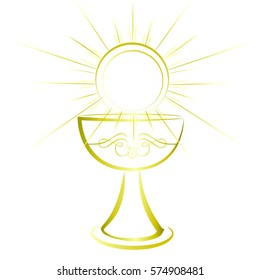 First communion chalice symbol for a nice invitation design.