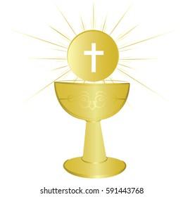 First communion chalice symbol for a nice invitation design.