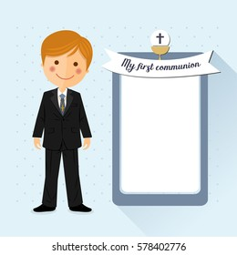 First communion child