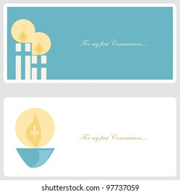 First Communion or Confirmation invitation card