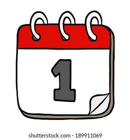 calendar cartoon images stock photos vectors shutterstock https www shutterstock com image vector first day calendar cartoon vector illustration 189911069