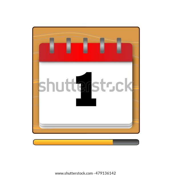 The first day in the calendar vector