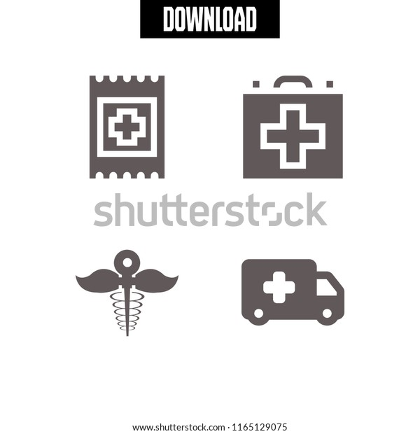 First Icon This Set Ambulance Pharmacy Stock Vector (Royalty Free