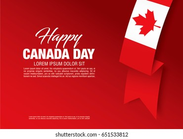 First of July Canada Day, vector illustration