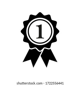 first medal icon symbol vector on white background. editable eps10