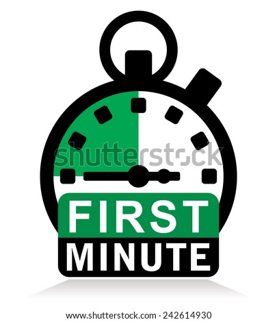 first minute sign stopwatch stock vector royalty free 242614930