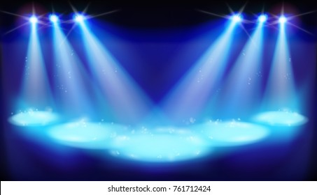 First night on theater stage. Vector illustration.