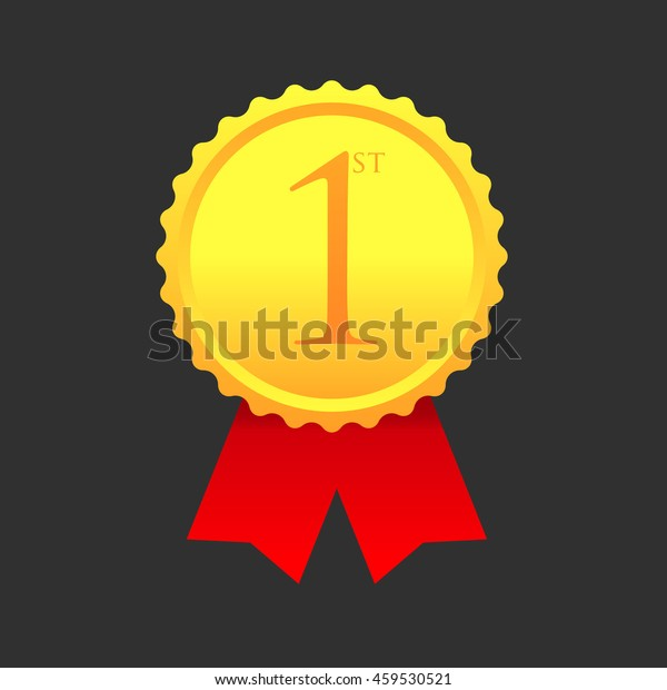 First Place Award Gold Medal Vector Stock Vector (Royalty