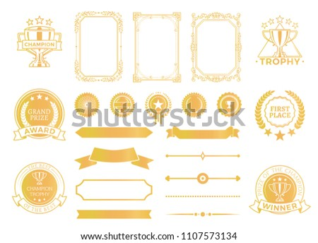 first place certificates diploma decor champion stock vector