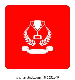 First place cup award sign icon.