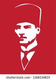 First president of republic of Turkey. Mustafa Kemal Ataturk.