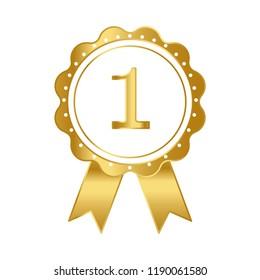 First prize ribbon award vector
