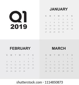 First quarter of calendar 2019