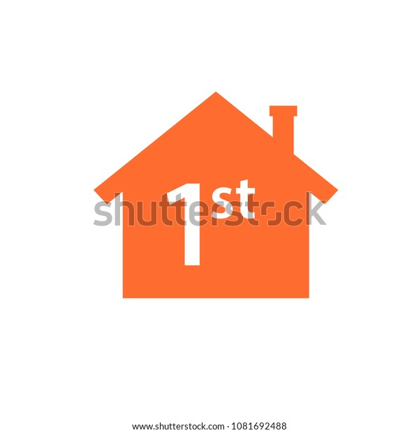 First Time Home Buyer Icon Real Stock Vektorgrafik
