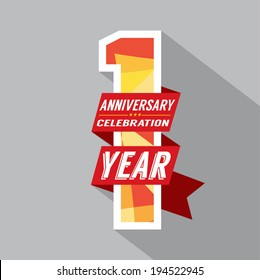 First Year Anniversary Celebration Design