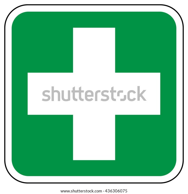 Firstaid Poster First Aid Sign White Stock Vector (Royalty Free