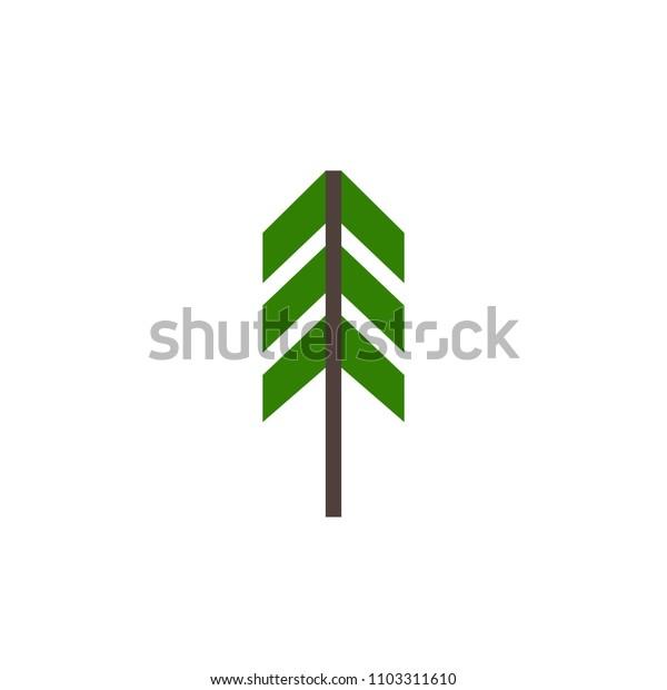 fir-tree vector icon