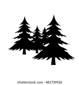 Pine Tree Silhouette Images Stock Photos Vectors Shutterstock