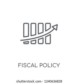 Fiscal policy linear icon. Modern outline Fiscal policy logo concept on white background from business collection. Suitable for use on web apps, mobile apps and print media.