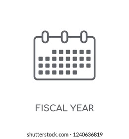 Fiscal year linear icon. Modern outline Fiscal year logo concept on white background from business collection. Suitable for use on web apps, mobile apps and print media.
