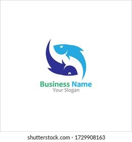 Fish abstract icon design logo template Company creative design
