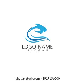 Fish abstract icon design logo template,Creative vector symbol of fishing club or online shop