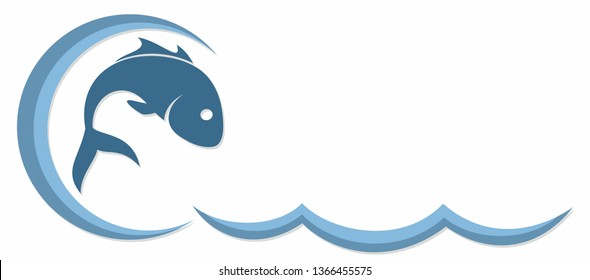 Fish with a blue wave.