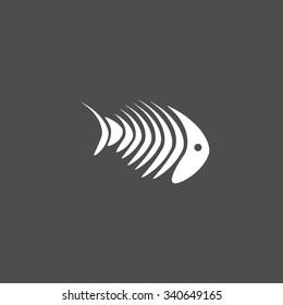 Fish Bone Illustration vector