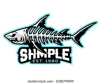 fish bone mascot for logo and t-shirt illustration