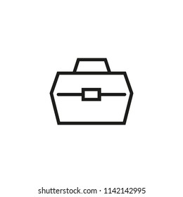 Fish box line icon. Cooler, container, package. Fishing concept. Vector illustration can be used for topics like