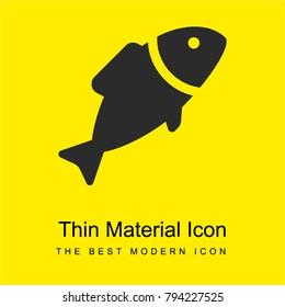Fish bright yellow material minimal icon or logo design