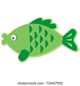 Fish, carp, vector icon